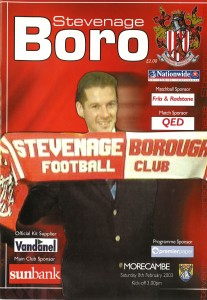 Program cover with Graham Westley