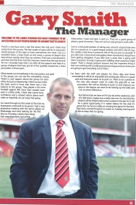 Gary Smith first programme notes